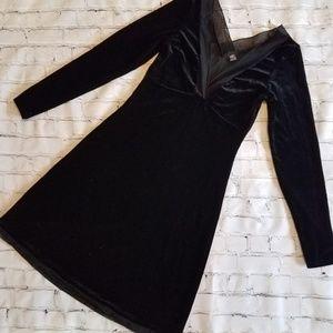 Only Hearts Black Velvet Dress